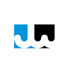 Letters j and w jw logo icon vector