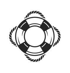 Life preserver ring icon vector
