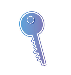 line key metal object icon vector image