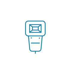 mountable flash linear icon concept mountable vector image