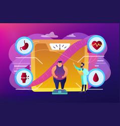 Obesity health problem concept vector