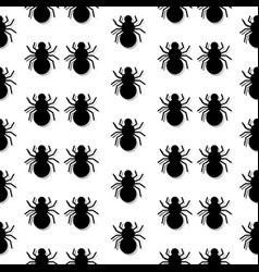 Pattern with the image of spiders with a vector