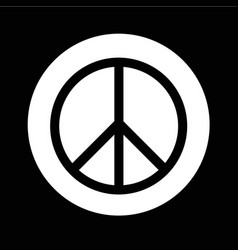 Peace sign icon design vector