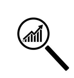 Profit search icon vector