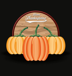 Pumpkins food for thanksgiving day vector