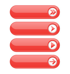 red interface buttons with arrows vector image