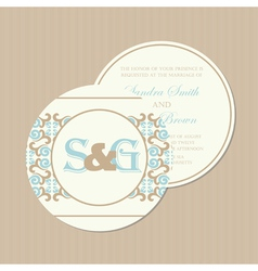 Round wedding invitation vector