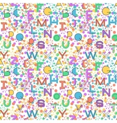 Seamless pattern alphabet background vector image