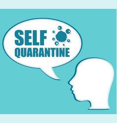 Self quarantine the silhouette a head vector