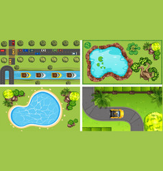 Set aerial view vector