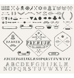 Set design elements labels Hand drawn vector image