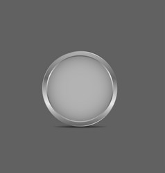 silver label icon vector image