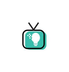 smart tv logo vector image