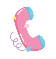 Social networks cartoon telephone call icon vector