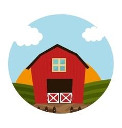 stable farm building icon vector image