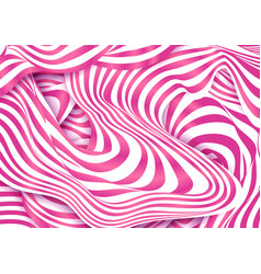 strawberry pink and white cream colors stripes vector image