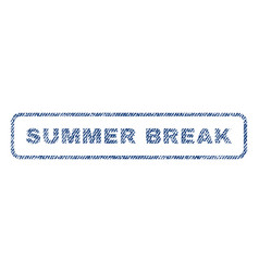 Summer break textile stamp vector