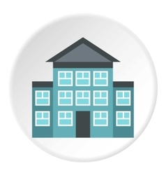 Three storey house icon flat style vector
