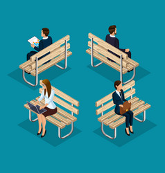 trendy people isometric 3d businessmen vector image