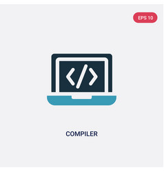 two color compiler icon from programming concept vector image