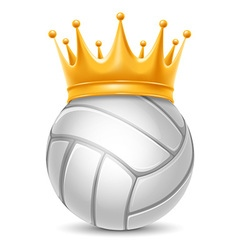 Volleyball ball in crown vector