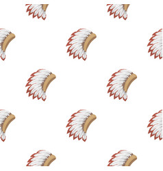 War bonnet icon in cartoon style isolated on white vector