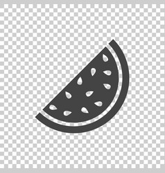 Watermelon icon juicy ripe fruit on isolated vector