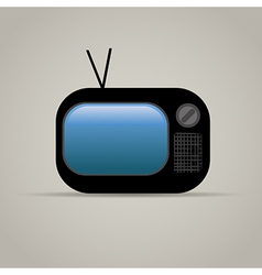 Web icon of retro tv vector image vector image