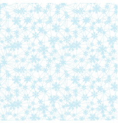 web of blue christmas snowflakes seamless pattern vector image