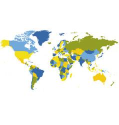 World map high detailed political map world vector