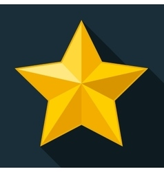 Yellow star gold star on black background vector image vector image