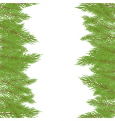 Christmas fur tree illustration vector image vector image