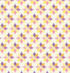 Classic Purple and Yellow Flower Pattern on Pastel vector image
