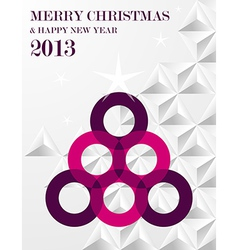 Contemporary merry Christmas pine tree vector image vector image