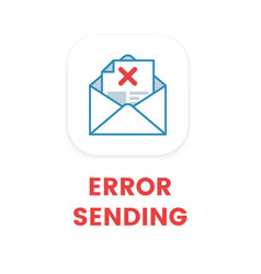 email error sending flat email not vector image