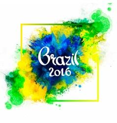Inscription Brazil 2016 on background vector image vector image