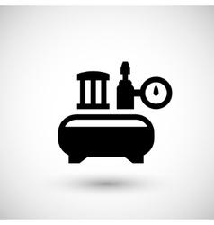 Air compressor icon vector