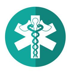 Caduceus medicine care symbol shadow vector