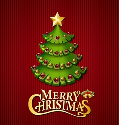 Christmas trees background vector image