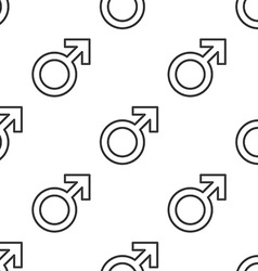 male symbol seamless pattern vector image vector image
