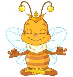 Meditating Queen Bee vector image vector image