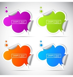 paper cloud stickers for speech vector image