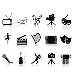 art concept icons set vector image vector image