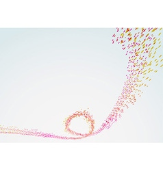 Bright curved line particle flow vector