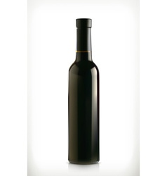 Classical wine bottle icon isolated on white vector image