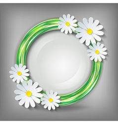 Eco conceptual background with 3d chamomile vector image vector image