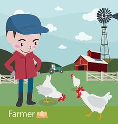 Farmers at work ariculture fresh farm vector image