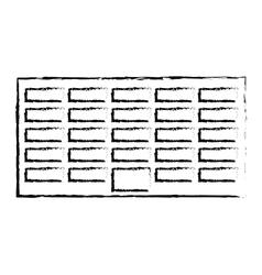 profile city office building line sticker vector image vector image