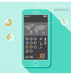 with a mobile phone Set of infographic elements in vector image
