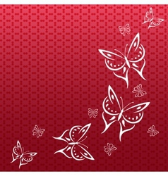Colorful background with butterfly vector image vector image